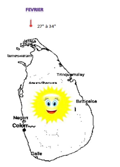 météo au sri lanka en février